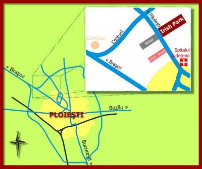 Harta locatie Irish Town Ploiesti